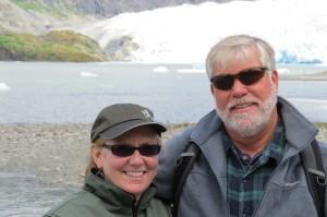 Colleen & Kevin in Alaska - Mendenhall glacier